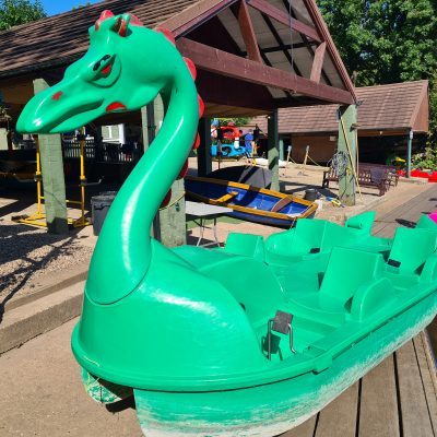 Used Leisure Green Dragon Pedalo