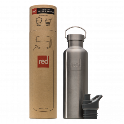 Red Original Insulated Drinks Bottle Silver